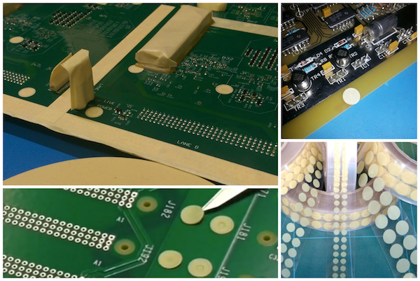 SCH Technologies offer a range of conformal coating masking dots in different sizes.
