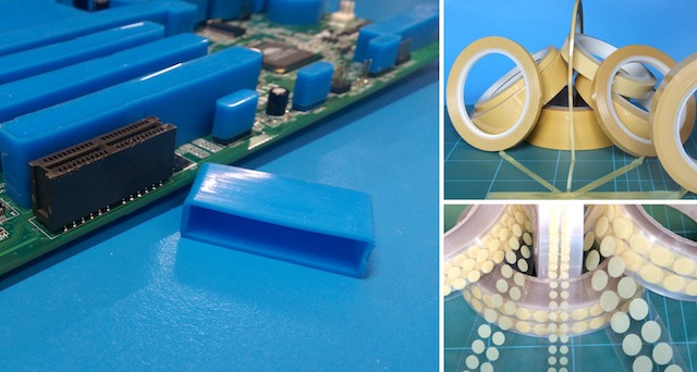 SCH Technologies provide a complete range of Parylene and conformal coating masking materials including masking boots, tapes and dots that are completely compatible with the production process.