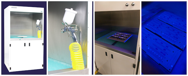CB100 conformal coating spray booth from SCH Technologies