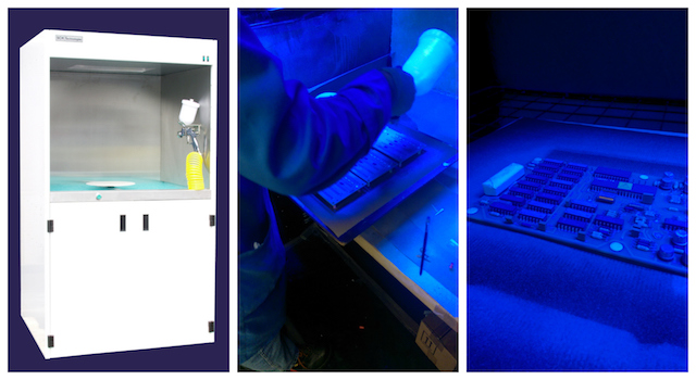 The conformal coating batch spray booth bundle can save significant money