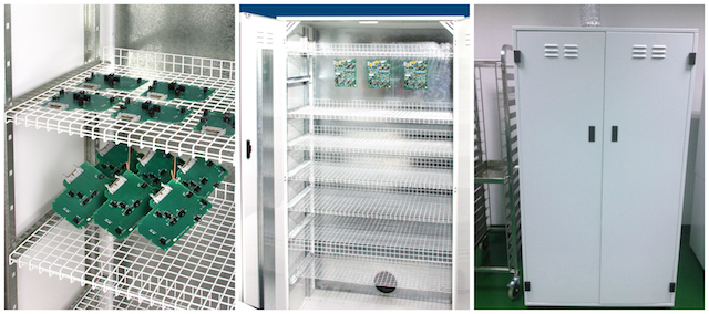 A conformal coating drying cabinet is perfect for storing wet circuit boards