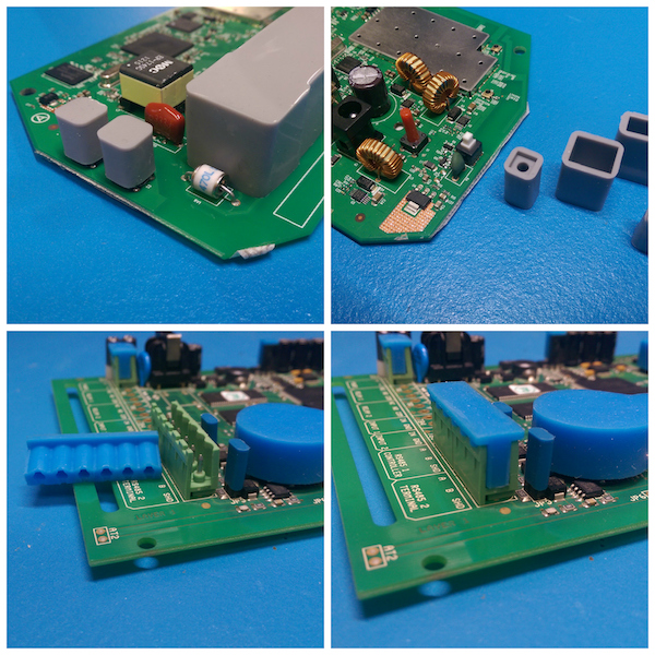 Examples of conformal coating masking boots