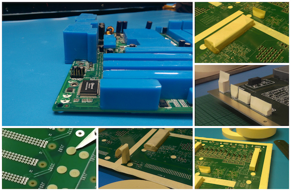 Examples of general conformal coating masking