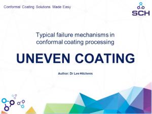 Uneven coating