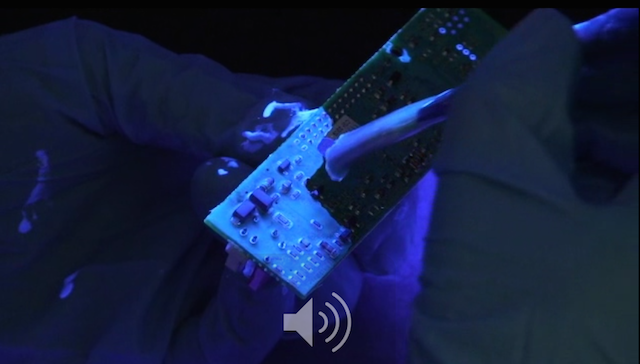 The correct technique for applying by brush is to flow the conformal coating on to the circuit board. The material should not be brushed on like you are decorating with paint.